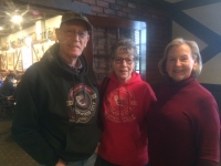 Don and Kay (Copen) Wyman with Kathy Bartole Shaw at Harry's Hofbrau for the 60th!