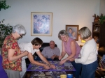 Gala Prep:  Getting the decor ready are Barbara Grace Lindeman, Rita Veit Brown, Allan Romander, Irene Miles, and Kathy