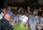 Claudette Coats Paige (green) and husband George, Allan Solheim (white).  Across the table are Ruth Rogers Silverman and