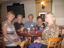 Gail (Granzow) Murray, Diane (Emick) Savoia, Linda Wolfe, Wendy (Leong) Hom, Kathy (Bartole) Shaw